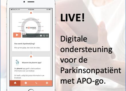 Live! Digitale ondersteuning voor de Parkinsonpatiënt met APO-go