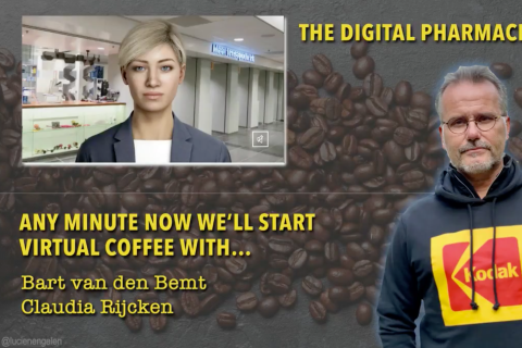 A virtual coffee date about the first digital human working as a digital phamacist